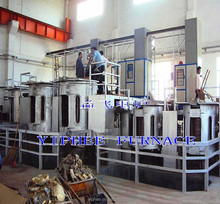 copper smelter 500KG capacity induction electric furnace