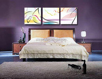 Wall hanging geometrical abstract painting for bedroom