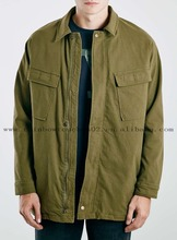 2015 winter mens high quality army green Oversized Field Jacket