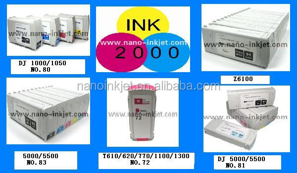Refill bulk Ink Pigment Ink for HP Z2100 Z6100/z6200 Plotter for HP 91 Cartridge 100% Compatible