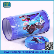 International Fashion Frozen Elsa box,Round cracker box, cookie tin box