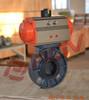 cpvc wafer pneumatic plastic butterfly valve