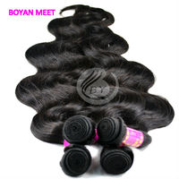 Tangle Free Virgin Human Red Indian Remy Hair Weave
