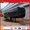 Tri Axle 40M3 Heated Asphalt Tanker Semi Trailer Bitumen Tank With Volume Optional