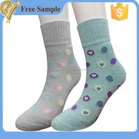 Young child girls school terry elastane cotton socks models