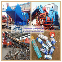 waste cars shredder machine for scrap metal recycling/car crushing machine