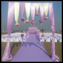 romantic wedding decoration chair cover with fancy chair sashes/organza sashes for chair cover