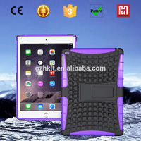 heavy duty 2 in 1 Shockproof TPU+PC smart cover for ipad/hybrid kickstand case cover for ipad air 2