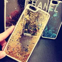 Liquid glitter bling star quicksand phone case for iphone 6 plus hard pc case