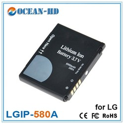 LGIP-580A for LG 3.7v 1000mah portable spice cell phone battery