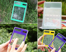 Transparent Solar Power Touch Screen Calculator/Calculator Touch Screen