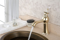 Luxury bathroom design kitchen brass basin faucet , bathroom sink faucet