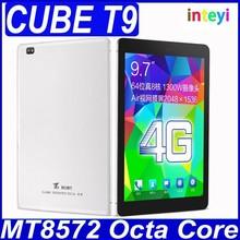 Original Cube T9 4G FDD LTE MT8752 Octa Core Tablet PC 9.7'' 2048x1536 Retina Screen Android 4.4 Phone Call GPS 2GB/32GB