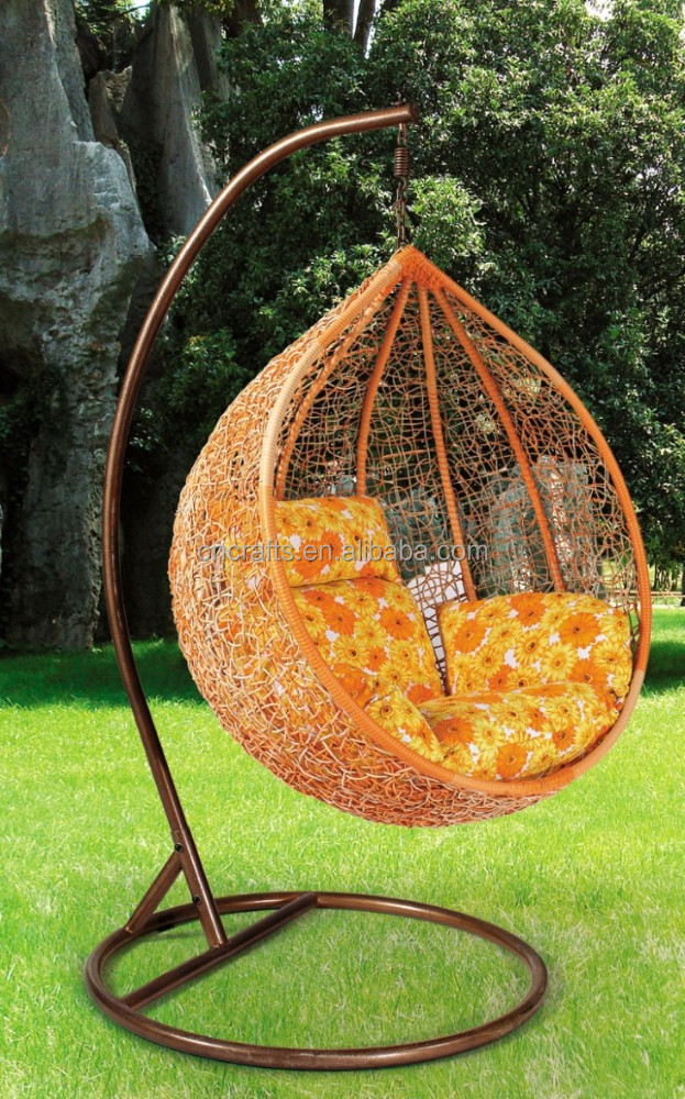 Outdoor Wicker Furniture Rattan Swing Chair Porch Swing Chair With Hanging S