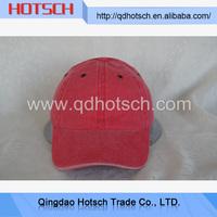 Cbina manufacturer wholesale custom red baseball caps