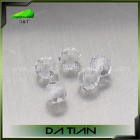 China Suppier wholesaler jewelry rondelle white crystal beads price of rock crystal stone