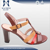 New style fashion leather 2015 lady sandal shoes