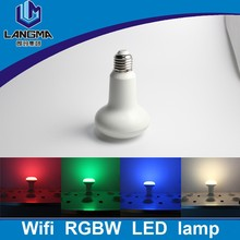 600lm e27 e26 lamp wireless control in 30 metres rgbw 9w par30 led bulb light