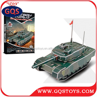 3D paper model toy cardboard puzzle tank