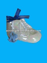 Cute ceramic baby shower ,porcelain baby shoes