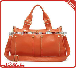2013 European Fashion Style Design with Rivet Genuine leather lady handbags