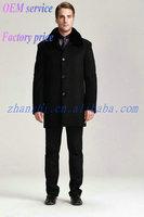 Latest Design Cheap Fashion Black mens warm and thin wool jacket
