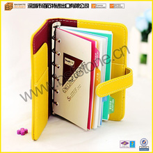 Different Functions Of Pretty Popular Organizer Book/Notebook PU Leather Material Wholesale