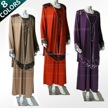 new style sequins kaftan abaya Islamic clothing wholesale women abaya