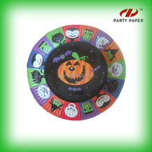 Halloween Pumpkins Square Party Tableware For Cake