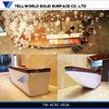 Oem moderna superficie sólida mesa de recepción/hotel mostrador de recepción de diseño