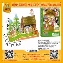 Children 3D the birth of Jesus DIY Puzzle, Intelligent 3D Paperboard the birth of Jesus DIY Puzzle