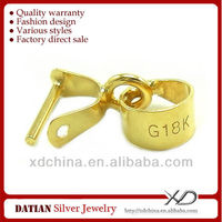 XD K007 18K gold middle smooth pendant clasp 18k gold jewelry manufacturers