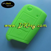 Best price 3 button key cover for vw golf 7 car key bag with yellow red orange black white green light blue dark blue