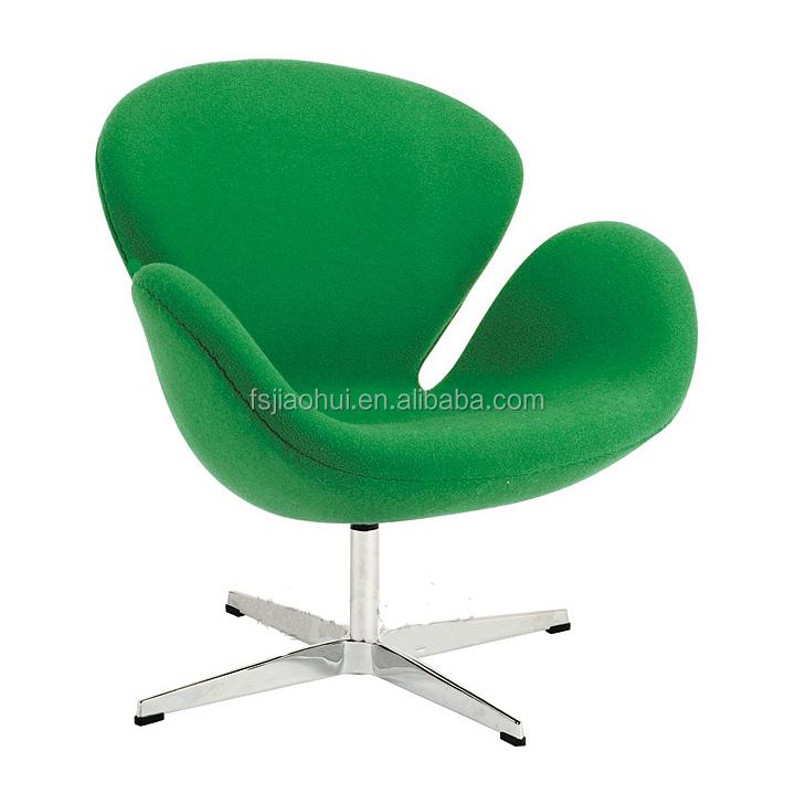 designer furniture replica swan chair in green wool fabric buy