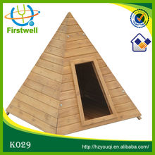 wooden dog house for sale, shape of pyramid