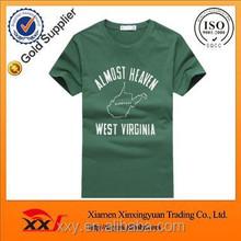 Various color 100% organic cotton custom men t shirt