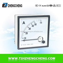 AC DC ammeter analog panel meter 50A DC ammeter size 72