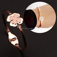 Top quality 316L stainless steel four leaf clover bracelet jewelry for girls