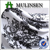 Mulinsen Textile Very Low Price Knitted Fashion Printed Stretch FDY Polyester Fabric