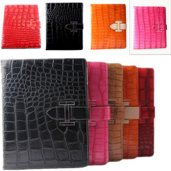 2015 New hot design Crocodile leather flip cover case for ipad 2/3/4