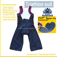 Triathlon wetsuit Custom design cycling running swimming Ironman Lycra fabrics Pro Team Tri Suit