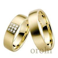 wedding gold rings couple,anillo de oro 22ct,corte redondo anillo de diamantes HG241