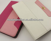 for ipad mini hot sale colorful leather case with card slot and embossing for table pc