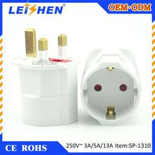 SP-1310 england to europe plug 4.8mm eu plug