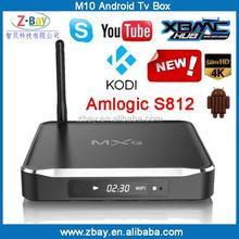 Metal housing amlogic S812 quad core android tv box 2gb ram 16gb rom