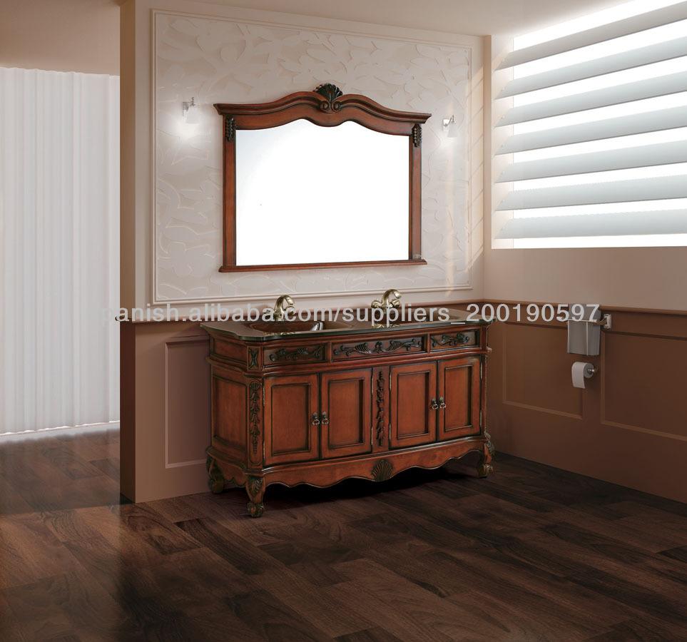 Antiguo de madera maciza muebles de ba o 2016d - Muebles de madera antiguos ...