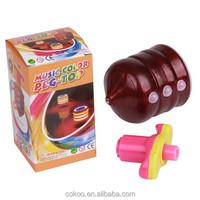 Led music spinning peg-top flashing peg-top toy