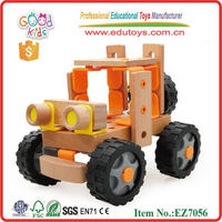 Changable Car wooden creative toys DIY truck wooden assemble toys for kids