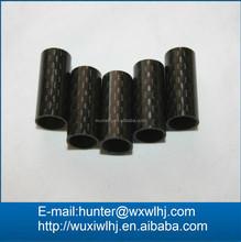 Carbon Fiber Tube - LOT OF 5 - 0.375 x ~0.42 x ~0.5 inch - Fabric