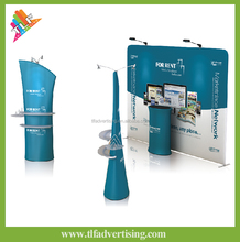 Exhibition pop up display,tension fabric backdrop display,trade show velcro/magnetic pop up display